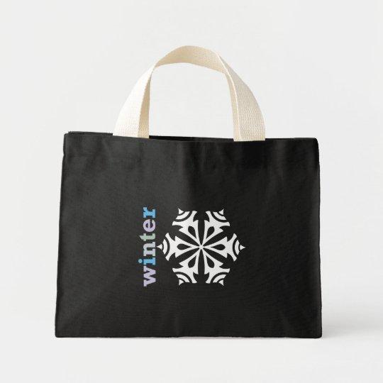 Winter Snowflake Mini Tote Bag