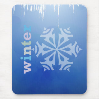 Winter Snowflake Mouse Pad