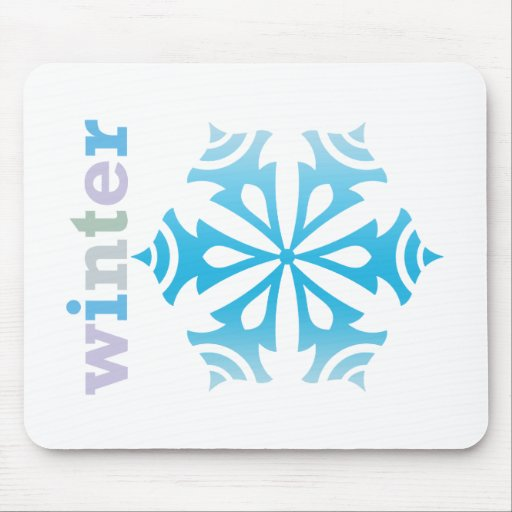 Winter Snowflake Mousepad