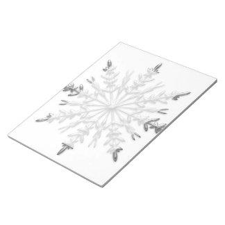 Winter Snowflake Notepad