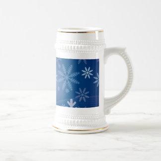 Winter Snowflake Pattern Beer Stein