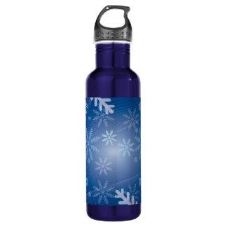 Winter Snowflake Pattern 24oz Water Bottle