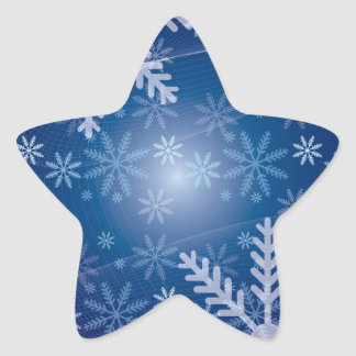 Winter Snowflake Pattern Star Sticker