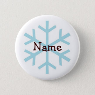 Winter Snowflake Personalized Gifts Button