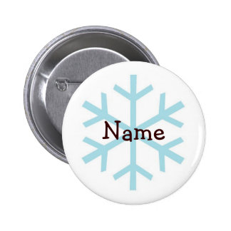 Winter Snowflake Personalized Gifts Buttons