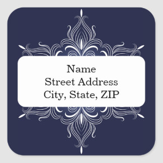 Winter Snowflake Personalized Stickers