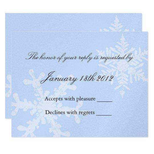 Winter Snowflake RSVP Card