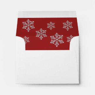 Winter Snowflake RSVP Envelope