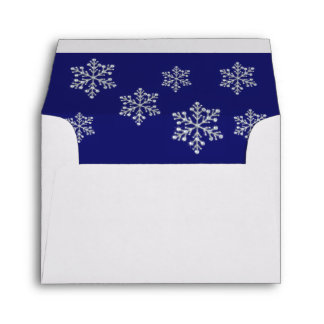 Winter Snowflake RSVP Envelope