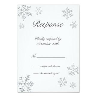 Winter Snowflake RSVP 3.5x5 Paper Invitation Card