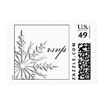 Winter Snowflake RSVP Wedding Postage