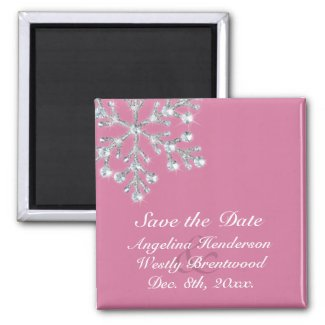 Winter Snowflake Save the Date Magnet magnet