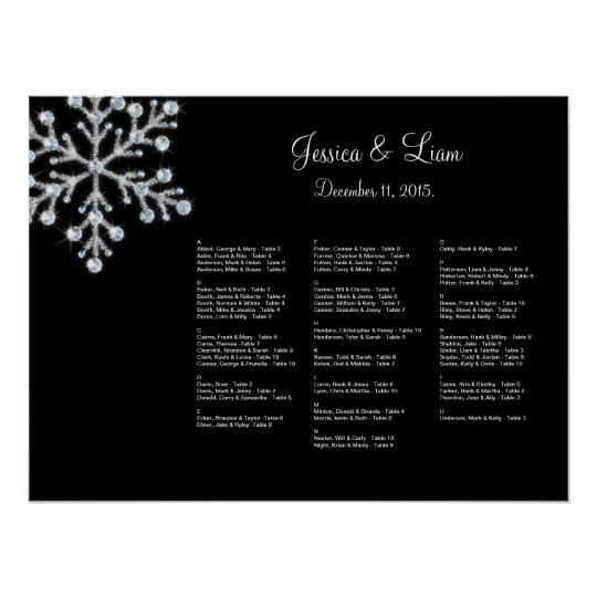 Winter Snowflake Seating Chart