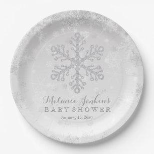 Snowflake Plates | Zazzle