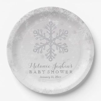Winter Snowflake Silver Baby Shower Paper Plates  sc 1 st  Zazzle & Babies Plates | Zazzle
