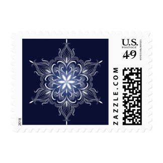 Winter Snowflake Stamps, Small Postage