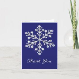 Winter Snowflake Thank You Card card