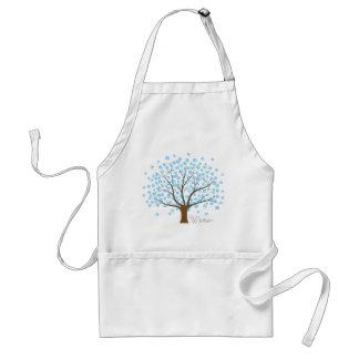 Winter Snowflake Tree Apron