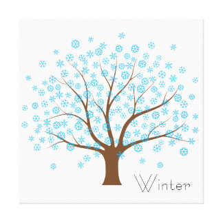 Winter Snowflake Tree Canvas Print
