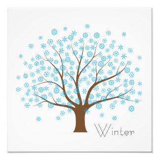 Winter Snowflake Tree Photo Print