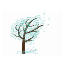 Winter Snowflake Tree Postcard