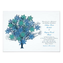Winter Snowflake Tree Wedding Invitation 5