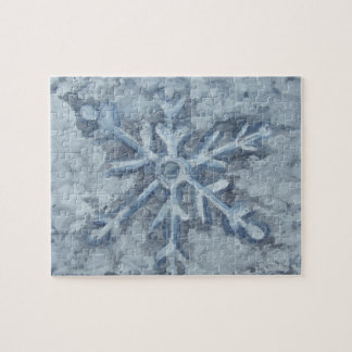 Winter Snowflake Watercolor Jigsaw Puzzle