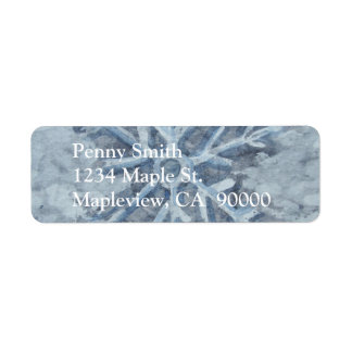 Winter Snowflake Watercolor Label