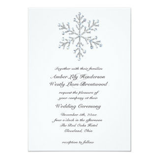 Winter Snowflake Wedding Invitation 2