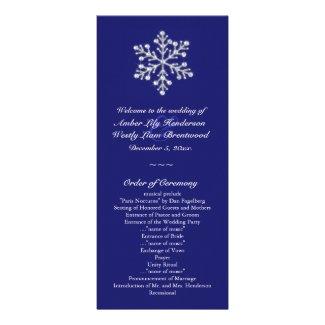 Winter Snowflake Wedding Program