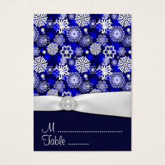 Winter Snowflake Wedding Reception Place Cards