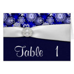 Winter Snowflake Wedding Table Number Cards