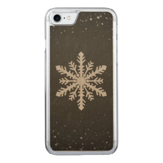 Winter Snowflake White Chalk Drawing Carved iPhone 8/7 Case