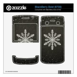 Winter Snowflake White Chalk Drawing BlackBerry Skins