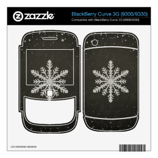 Winter Snowflake White Chalk Drawing BlackBerry Curve 3G Decal
