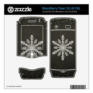 Winter Snowflake White Chalk Drawing Skin For BlackBerry Pearl