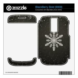 Winter Snowflake White Chalk Drawing Skin For BlackBerry