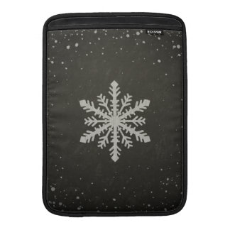 Winter Snowflake White Chalk Drawing Sleeve For MacBook Air