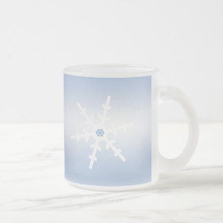 Winter Snowflakes 10 Oz Frosted Glass Coffee Mug