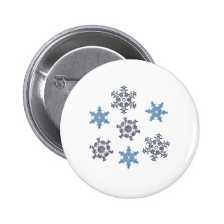 Winter snowflakes 2 inch round button