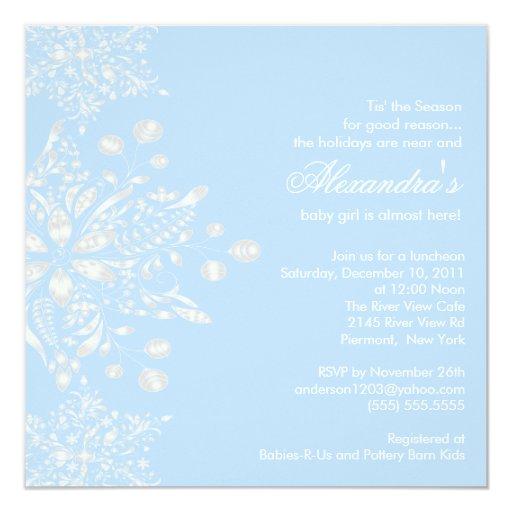 winter snowflakes boy baby shower invitation zazzle