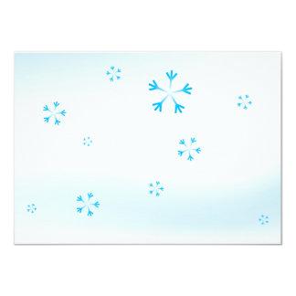 Winter Snowflakes Christmas Invitation