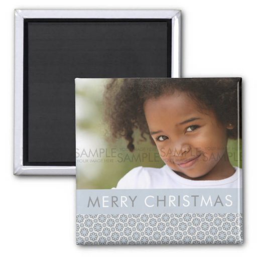 Winter Snowflakes :: Christmas Photo Magnet