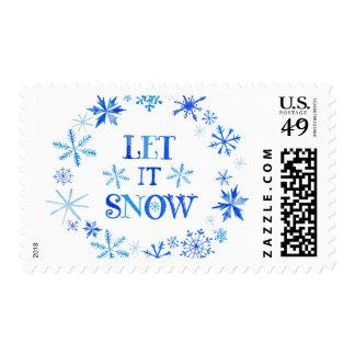Winter Snowflakes Christmas Postage