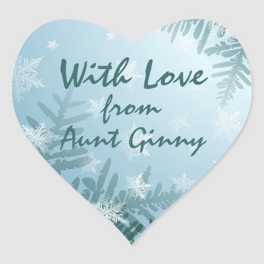 Winter Snowflakes Heart Sticker
