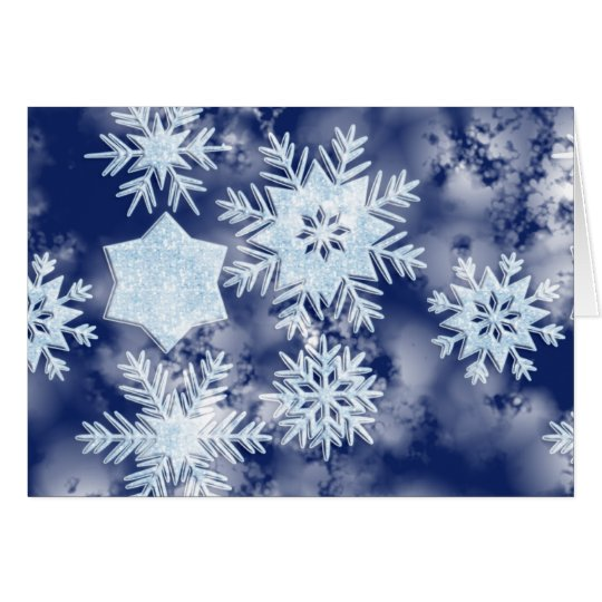 Winter Snowflakes Icy Blue Card