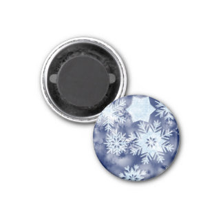 Winter Snowflakes Icy Blue Magnet