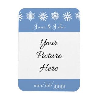 Winter Snowflakes in Periwinkle Reminder Magnet