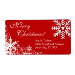 Winter Snowflakes label Shipping Label