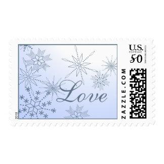 Winter Snowflakes Love Postage